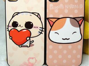 iphone4 4s 小猫子 卡通 情侣 立体浮雕 手感贴皮 手机壳 保护壳,数码周边,