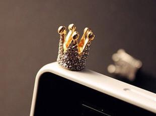 AQ4194 皇冠水晶 防尘塞 iphone4 耳机塞(基本款手机都可以使用),数码周边,
