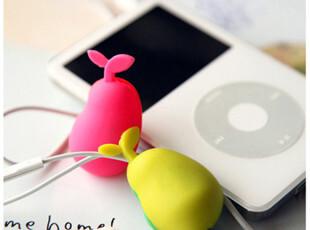 特价 Silicone 创意 豌豆苗 耳机 iphone 手机 绕线器/集线器,数码周边,