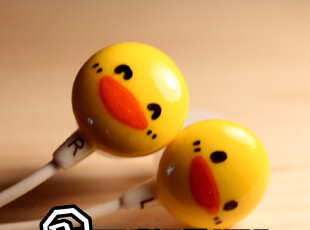 「R.D™」「彩虹原创」创意手绘耳机 小黄鸭耳机 PiYo PiYo,数码周边,