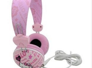 Hello Kitty HKP-HP02头戴护耳式耳机 粉色 电脑耳机 礼品,数码周边,