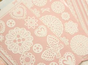 大爱推荐 特 DIY装饰贴纸 超美蕾丝边边 蕾丝手机贴纸 新加粉色款,数码周边,