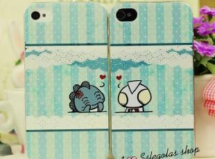 小清新 彩绘奥特曼与小怪兽 iphone4 4S手机壳 苹果4代情侣壳,数码周边,