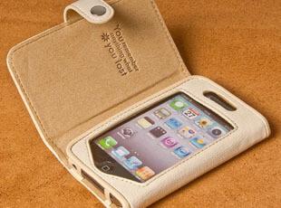 CIMO西盟正品包邮 iPhone 4 4S 保护套 皮套 外壳 左右翻盖手机套,数码周边,