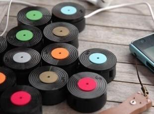 韩国  黑胶唱片 耳机绕线器|理线器|手机屏幕擦,数码周边,