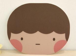 韩国文具 可爱娃娃头鼠标垫 情侣款 2款选,数码周边,