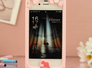 可爱卡通苹果4 4s手机壳 iPhone4 4s硅胶边框手机套 保护壳套配件,数码周边,