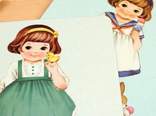 懒角落★日韩国文具 韩版 可爱卡通 萝莉女孩 鼠标垫 24134,数码周边,