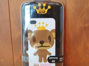 『韩国进口家居』A492 可爱皇冠小熊iPhone4S专用手机壳 三色选,数码周边,