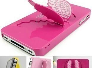 苹果4S 4手机壳 外壳 天使之翼 翅膀 iphone4S 4手机壳 苹果支架,数码周边,
