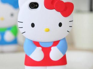 hello kitty立体卡通iphone手机壳iphone4s手机保护壳苹果外壳,数码周边,