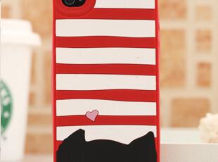 日本 津森千里 iphone4/4s手机壳 苹果4外壳 猫猫 硅胶套 软壳,数码周边,