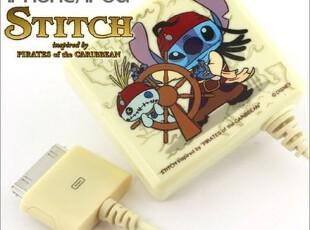 日本直送~正版Disney加勒比海盗×星际宝贝iphone4直插充电器,数码周边,