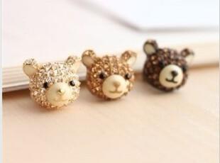 韩国进口耳机防尘塞 BANANACO iphone 4/4S/i9100_ear cap bear,数码周边,