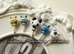 超可爱 猫咪/熊猫 iphone4 S ipad htc耳机孔防尘塞 手机耳机孔塞,数码周边,