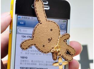 批发 皮质可爱兔子防尘塞 IPHONE三星HTC耳机防尘塞 吊坠防尘塞,数码周边,