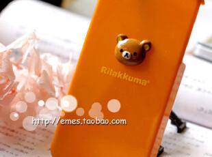 特价!san-x轻松熊Rilakkuma立体头iPhone4手机套/保护套/保护壳,数码周边,