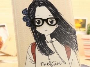 厂价直销 ipad2 ipad3 保护套 立体眼镜男孩女孩 皮套外壳 情侣款,数码周边,