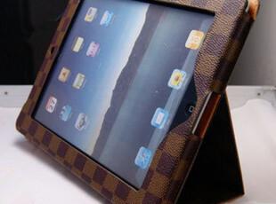 苹果 L_V 皮套 ipad3 ipad2带支架格子带休眠保护套 超薄皮套,数码周边,