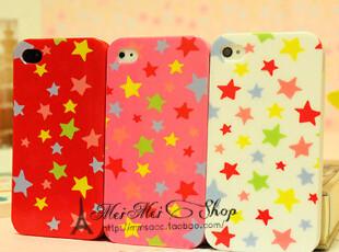 新款可爱iphone4/4s 手机壳 超薄软壳 韩国潮星星外壳 个性保护套,数码周边,