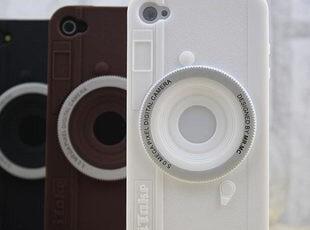创意个性 苹果iphone4手机壳 4S硅胶套 复古照相机外壳 手机套,数码周边,