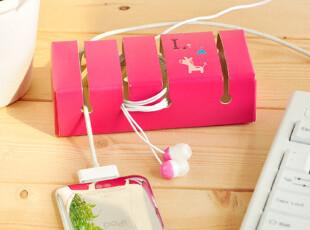 三年二班●韩国时尚 韩版可爱绕线器座 皮质 iphone4周边,数码周边,
