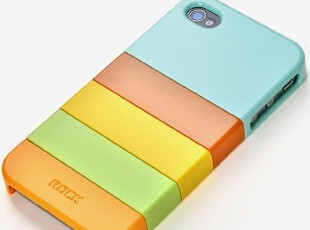 ROCK洛克iphone 4 外壳 4s 缤纷彩壳 苹果4代保护壳 可组合手机壳,数码周边,