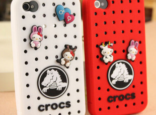 CRCOS卡骆驰 iphone 4外壳 保护套 洞洞鞋 可爱 硅胶套,数码周边,