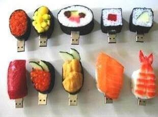 足量优盘 个性创意/仿真食物食品日本寿司U盘 8G 特价 包邮,数码周边,
