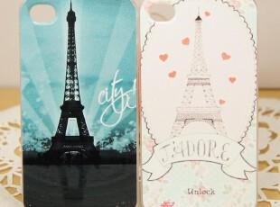 iphone4 4s 可爱蕾丝 小清新 巴黎铁塔手机壳保护壳保护套彩绘壳,数码周边,
