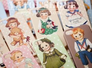 【满6件包邮】韩国可爱娃娃~公主王子情结苹果iphone4 4S手机壳,数码周边,