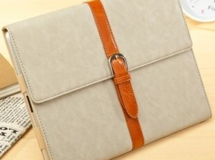 欧美纽扣皮带款 ipad2 ipad3 保护套 smart cover 原装皮套保护套,数码周边,