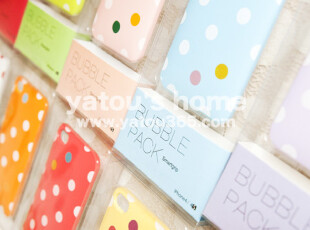 【满6件包邮】韩国设计-糖果色波点手机插卡吸附背壳iphone,数码周边,