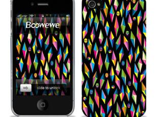 骷髅 苹果4手机壳 iPhone4手机壳 iphone4s手机壳 手机套 彩钻 潮,数码周边,