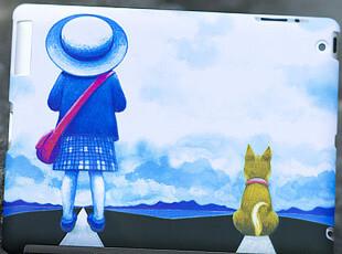 苹果 ipad3代 卡通漫画磨砂彩绘保护壳 ipad2代smart cover保护套,数码周边,