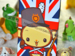 包邮!MomoMonkey iPhone 4 4S通用硅胶手机壳 英伦米字旗小猴,数码周边,