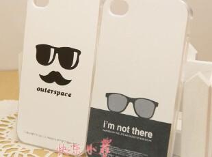 iphone4 4s 小清新 英伦风 眼睛胡子 情侣 彩绘壳 手机壳 保护壳,数码周边,