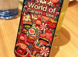 潮牌 可爱 章鱼狂欢 苹果4 iphone4 4s 手机壳 保护壳 透明边框,数码周边,
