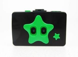 LOMO相机二眼 2眼相机 二孔相机 黑绿色两格相机 二格相机,数码周边,