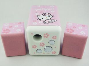 hello kitty音箱低音炮  kitty音响 kitty木音箱 kitty电脑音箱,数码周边,