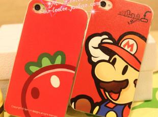 独家 iphone 4/4s 甜美草莓 超级玛丽 情侣手机壳 保护壳,数码周边,