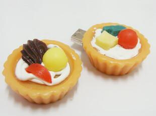 新款 仿真水果蛋挞 创意U盘 个性 可爱 U盘 4G 高速  优盘,数码周边,