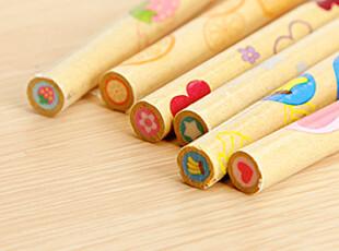 幸福市集★日韩文具 创意搞怪 水果芯铅笔型 细长橡皮擦 学生奖品,文具,