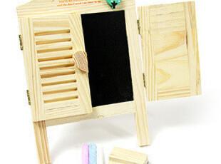 韩版爱心百叶窗迷你木质小黑板 送粉笔+板擦 创意写字留言板 250,文具,