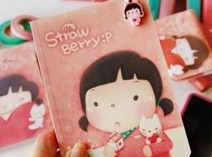 【特】伊凡●韩国文具 可爱创意 微笑女孩笔记本 记事本 本子 2款,文具,