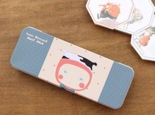 韩国文具 动物寓言铁质铅笔盒 学生笔盒 文具盒 马口铁 收纳盒,文具,