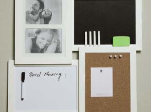 出口带挂式软木留言板大号白色木制 小黑板 带立体钉 可钉留言条,文具,
