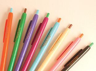 正品韩国文具 romane糖果色0.38极细彩色圆珠笔-8色 送黑色笔芯,文具,