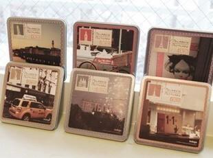 韩国indigo铁盒装宝丽来明信片 卡片 贺卡 15张套 世界风情 6款,文具,
