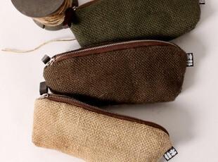 TouFa Store本册】MUPU木朴 商务简约皮绳捆绑羊毛毡折叠笔袋,文具,